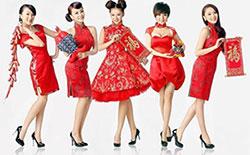 Китайский Новый год 2014, женщины носят красное